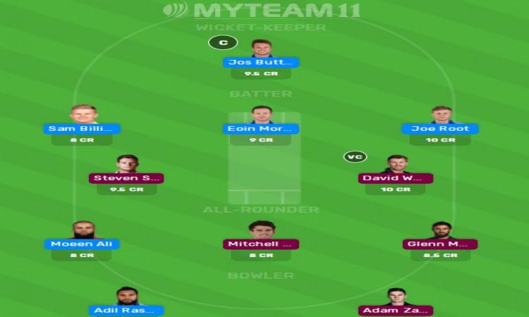 Fantasy XI Aus-Eng 2nd ODI